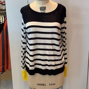 Zara knitwear stripe sweater small